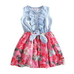 $enCountryForm.capitalKeyWord UK - 2017 Baby girl denim dress children sleeveless christmas girls dresses summer style kids princess flower dress Hot P3 H2
