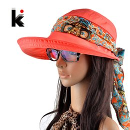 $enCountryForm.capitalKeyWord NZ - Free shipping 2018 summer hats for women chapeu feminino new fashion visors cap sun collapsible anti-uv hat 6 colors S18101708
