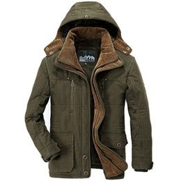 489659308b638 Men Clothes 2018 Winter Jacket Men Military Style High Quality Thicken  Fleece Parka Coat Cotton Padded Jacket Plus Size 6Xl for Men