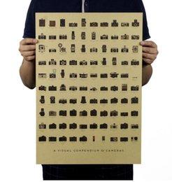 Decorative Art China Australia - Camera Nostalgia Decorative Vintage Kraft Paper Classic Movie Poster Map Home Decor Garage Wall Decor Art Retro Prints Post It