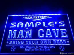 BaseBall signs online shopping - DZ032b Name Personalized Custom Man Cave Baseball Bar Beer LED Neon Beer Sign
