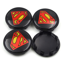 $enCountryForm.capitalKeyWord UK - Gzhengtong 58mm Black Aolly Superman Logo Car Emblem Wheel Center Hub Cap Badge Covers Accessories For KIA Car Styling