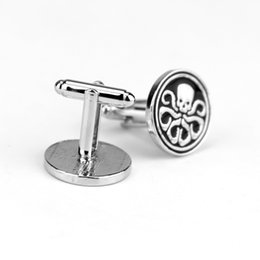 Wholesale Superhero Party Decorations Australia - Superhero Avengers Hydra Skull Cufflinks For Men's Shirt Cuff Link High Quality Party Cuff Button Men Jewelry Ornamel Decoration