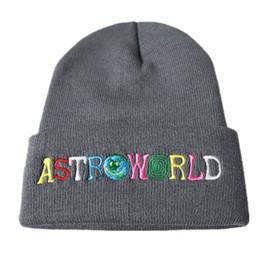 2018 New Travi  Scotts Beanie ASTROWORLD Knit Cap Embroidery Astroworld Ski  Warm Winter Unisex Travis Scotts ski Skullies   Beanie f7bb59e6e4b