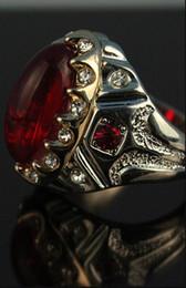 Rubies band online shopping - Europe fashion ruby ring fashion men ring mix size to