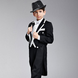 Image Boys Dress NZ - Customized boy suit three-piece suit (coat + pants + vest) wedding flower girl dress children's costumes party party dress