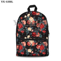 Flower Print Backpacks NZ - Fresh Style Women Backpacks Floral Print Bookbags Canvas leaves School Bag flower Rucksack Female Travel Backpack