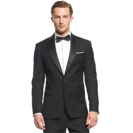 images bridegroom dresses UK - New 2018 Men Suits Black Peaked Lapel Evening Dress Wedding Suits Bridegroom Custom Made Slim Fit Tuxedos Best Man Blazer Prom Party 2Pieces
