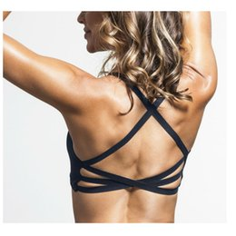 ccb8ad1f7a Women Sports Bra Top for Women Sexy Bacckless Black Sport Bras Tops  Underwear Gym Tank Tops Camis Without Steel