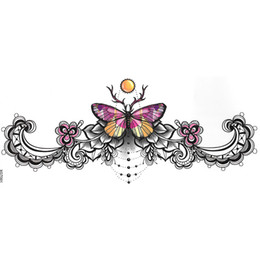 5d273538cb93c 12pieces mix design New fashion womens body art waterproof temporary  sternum tattoo sticker chest tattoo