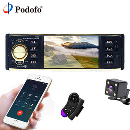 $enCountryForm.capitalKeyWord Australia - Podofo 4'' TFT Screen 1 Din Car Radio Audio Stereo MP3 Car Audio Player Bluetooth With Rearview Camera Remote Control USB FM