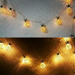 Solid Battery Australia - Vintage Iron Pineapple Night Lights 20 Leds String Lamp 3M Battery Powered Lantern Romantic Home Christmas Wedding Decor