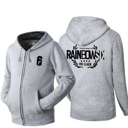 Chinese  2018 Tom Clancy's Rainbow Six Siege Game Cosplay Hoodie Men's autumn Winter Casual Fleece Sweatshirt Zip Up Hoodie Cotton Coat manufacturers