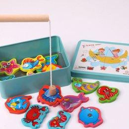 Bambini Giocattoli per bambini Nuovi giocattoli di ferro per bambini Giocattoli per la pesca magnetica Pesca marina Bambino Casa genitore-figlio Giocattoli all'ingrosso