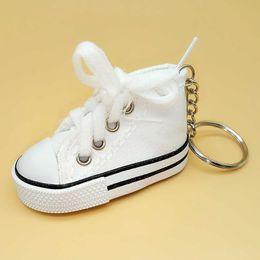 shoes favors 2019 - 3D Sneaker Keychain Novelty Canvas Shoes Key Ring Shoes Key Chain Holder Handbag Pendant Party Favors discount shoes fav