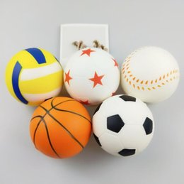 China 5 Styles Kawaii Soft Football Squishies Volleyball Squishy Toy Slow Rising for Relieves Stress Anxiety Decompression Toy CCA10487 50pcs cheap football soft toys suppliers