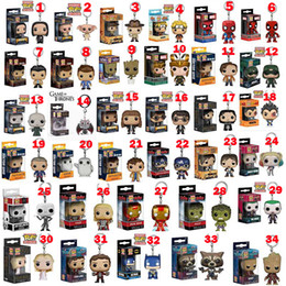 Marvel Heroes Toys Wholesale Canada - Funko POP Gxhmy Marvel Super Hero Harley Quinn Deadpool Harry Potter Goku Spiderman Joker Game of Thrones Figurines Toy Keychain