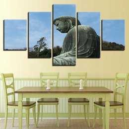 $enCountryForm.capitalKeyWord NZ - Fashion Modular Poster HD Wall 5 Pieces Buddha Canvas Painting Art Prints Pictures Bedside Background Home Decoration Hot Sale