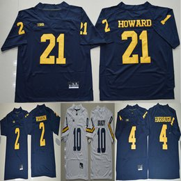 2019 jersey 10 Tom Brady 2 Charles Woodson 4 Jim Harbaugh 5 Jabrill Peppers  21 Desmond Howard Michigan Wolverines Football College Jerseys c1402a8c9