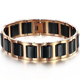 $enCountryForm.capitalKeyWord UK - 64G 2013 fashion XMAS jewelry titanium steel ceramic male cool bracelet n448 rose gold black