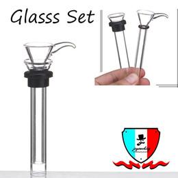 Discount glass bong rubber - Glass slides set male female stem slide funnel tube rubber grommet downstem for water pipe glass bong