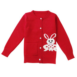 Open Clothes Canada - Kid Girls Christmas Sweater 2018 Girls Sweaters Cotton Open Stitch Knitted Baby Ribbed Sweater Baby Girl Winter Clothes