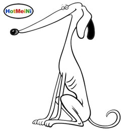 Chinese  Wholesale Purebred Greyhound Dog Car Tail Stickers Funny Vinyl Decal Car Styling Bumper Decoration manufacturers