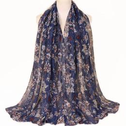 Chinese pashmina sCarves online shopping - Printed Balinese cotton yarn thin scarf Chinese style popular Muslim national Baotou Scarves