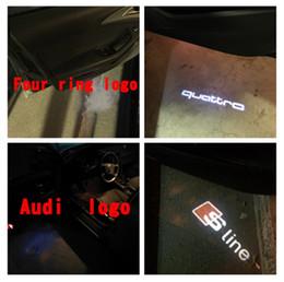 2x LED Puerta de coche Bienvenido Luz láser Proyector Logotipo de la línea para Audi A1 A3 A5 A6 A8 A4 B6 B8 C5 80 A7 Q3 Q5 Q7 TT R8 sline en venta