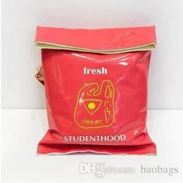 $enCountryForm.capitalKeyWord NZ - Hot Selling Potato Chips PU Backpack Fun Whimsy Creative School Bag Children Casual Waterproof Backpack Duffel Flashing Carrier Kids Gift