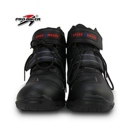 bikers boots UK - Pro biker SPEED Motorcycle Boots Moto Racing Street Riding Motocross Motorbike Shoes A005 3 colors size 38 39 40 41 42 43 44 45