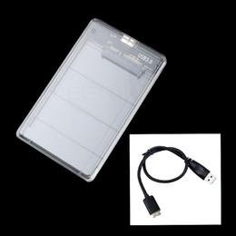 "Discount external drives 2tb - 2.5"" USB 3.0 SATA Hd Box HDD Hard Disk Drive External HDD Enclosure Transparent Case Tool Free 5 Gbps Support 2TB U"
