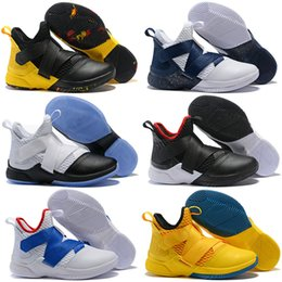 1203c619969 2018 New Los Angeles Orange Purple Lebron Soldier XII 12 EP Mens Basketball  Shoes for Cheap High quality Soldiers 12s Size 7-12.