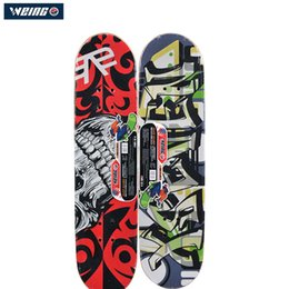 red maple wood 2019 - 2018 WEING New Deck Hand Painted Single Rocker Popular Maple Wood Pulley Wheel Skateboard discount red maple wood