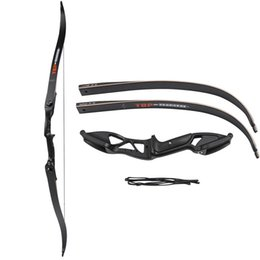 Wholesale Professional 56 Inch 30-50lbs Crossbow & Arrow Set Archery Hunting Takedown Metal Recurve Bow Right Hand Target