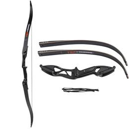 Großhandel Professionelle 56 Zoll 30-50 £ Armbrust Pfeil Set Bogenschießen Jagd Takedown Metall Recurve Bogen rechte Hand Ziel