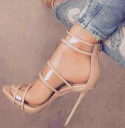 $enCountryForm.capitalKeyWord NZ - 2018 New Arrival Women Women PVC Sandals Ankle Strap Sandals thin heel high heels open toe wedding shoes beige pink black