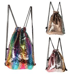 b16d352fc2e9 Colorful Mermaid Sequin Backpack Trend Designer School Bags For Students  Best Gifts Bling Fashion Shopping Bags Many Colors 22js ZZ