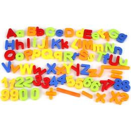 Kids Letter Magnets NZ - Kids Magnetic Alphabet Letter Maths Number Symbol Fridge Magnets Gift 80Pcs