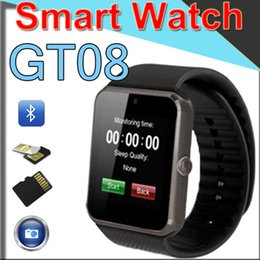 $enCountryForm.capitalKeyWord Australia - GT08 Smart Watch Bluetooth Smart watches Camera For Android Smart Cell phones SIM Slot NFC Health Watches for Android with Retail Box GT6