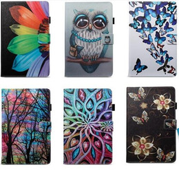 ipad butterfly case Canada - Butterfly Owl Flower PU Leather Stand Wallet Flip Card Slots Case for iPad 10.2 2019 New Ipad 2017 2018 234 Air Air2 mini Samsung Amazon
