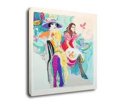Chinese  Cartoon Art Fashion Lady,Oil Painting Reproduction High Quality Giclee Print on Canvas Modern Home Art Decor E61 manufacturers
