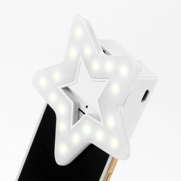 ET Telefon Selfie Flash Led Licht Einstellbare Handy Fill Light für iphone 6 7 8 Plus LED Blinklicht Ring Clip Telefon Objektiv
