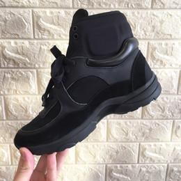 238db976e 2018 Zapatos de lujo de marca Zapatillas de cuero negras para mujer Zapatillas  de running Zapatillas