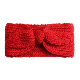 $enCountryForm.capitalKeyWord UK - New children's super cute rabbit ears wool hair band baby 2018 Europe and the United States knitted earmuffs baby fashion hair band