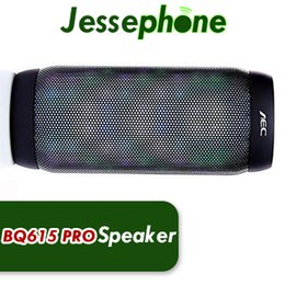 Discount mp3 player sd card style - BQ 615 PRO portable handree supper bass stereo wireless bluetooth v4.2 speaker FM SD CARD loudspeakers 6 led styles musi