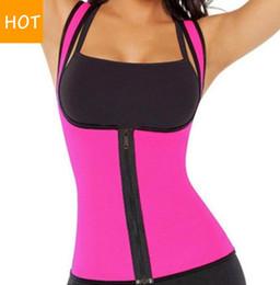 Wholesale Women Sweat Enhancing Waist Training Corset Waist Trainer Sauna Suit Hot Shaper Sport Vest colors Size S XL