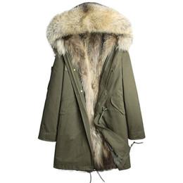 Fur Real Dogs UK - Zollrfea Real Fur Parka Winter Jacket Real Raccoon Fur Hooded Coats Nature Raccoon Dog Lining Jacket Man Coat CA0352