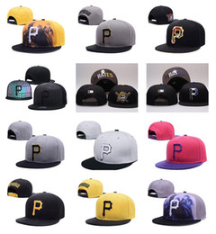 Pirates logos online shopping - HOT Sale Colors Men s Pirates Sport Team Baseball Hats Embroidered Gold P Letter Team Logo Brand Hip Hop Sports Baseball Adjustable Caps