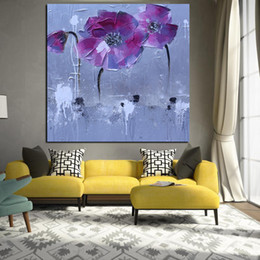 Art Canvas Prints Australia - 1 Piece Abstract Floral Flower Oil Painting on Canvas Poster and Print Modern Pop Art Giclee Wall Picture For Living Room No Framed